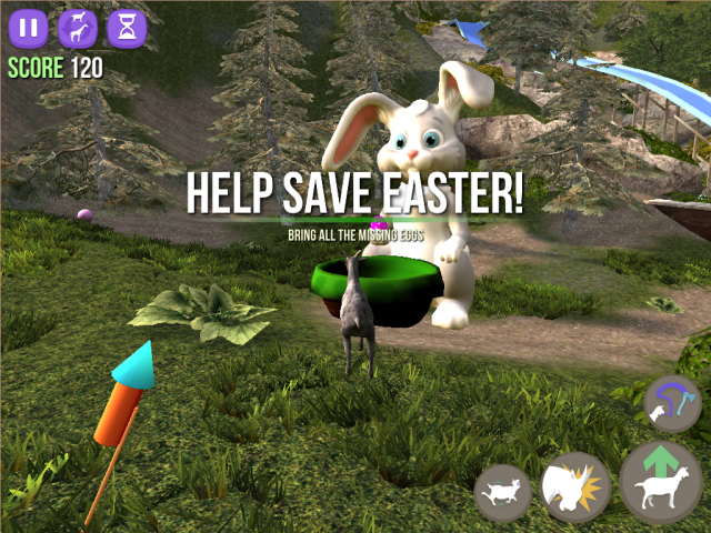 Goat Simulator Updated With New Easter Content Now 80