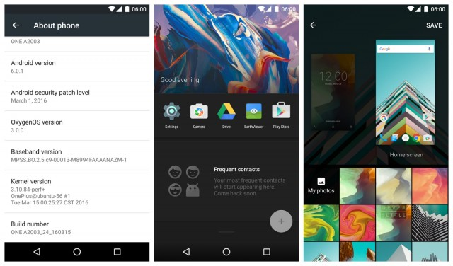 OnePlus 2 Android 6.0.1 Marshmallow OxygenOS 3.0
