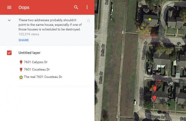 google maps acci