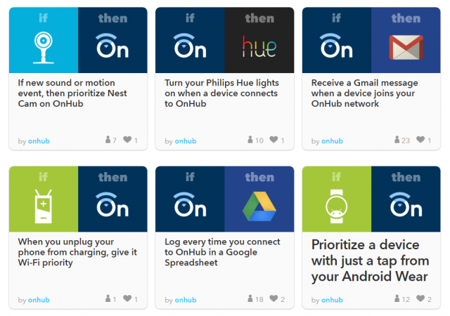 Connect OnHub to hundreds of apps IFTTT