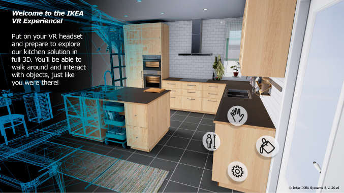 Ikea 39 s new vr app lets you tour kitchens before purchasing for Virtual tour kitchen designs