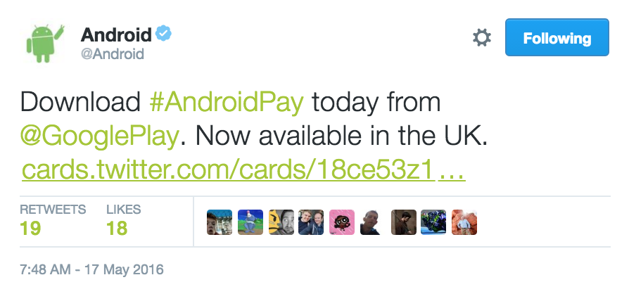 how to use android pay uk