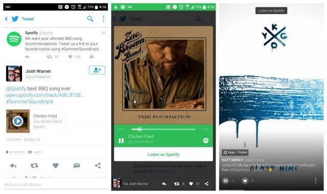 Twitter Spotify Audio Card screenshots