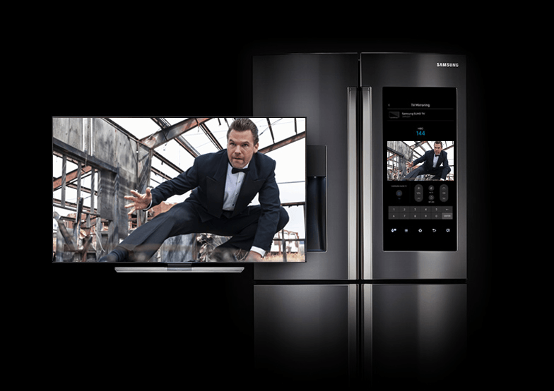 samsung tv fridge. samsung fridge video tv