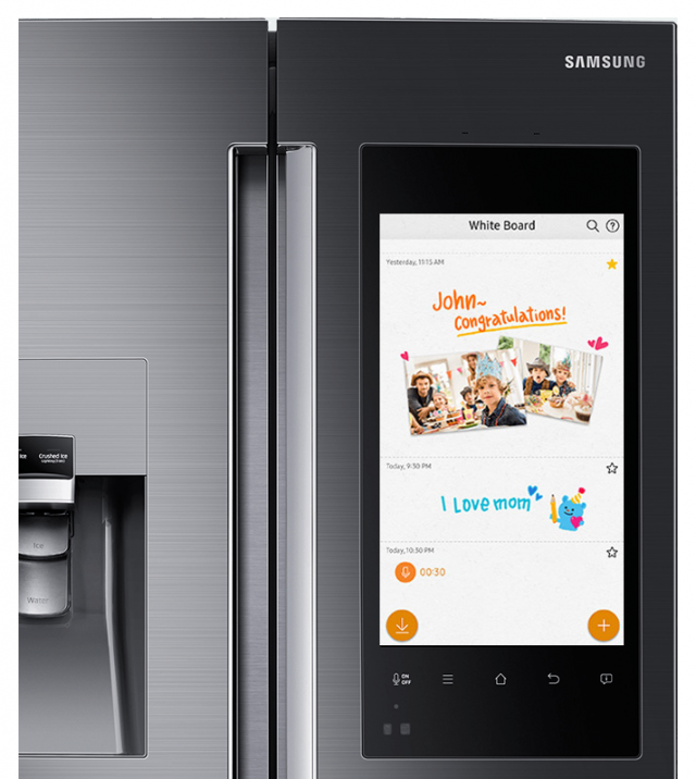 Samsung's Smart Fridge With Its Giant Embedded Smartphone