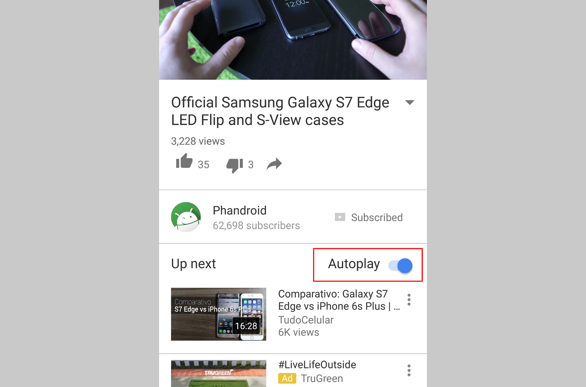 Youtube For Android Can Now Autoplay The Next Video Just Like On View
