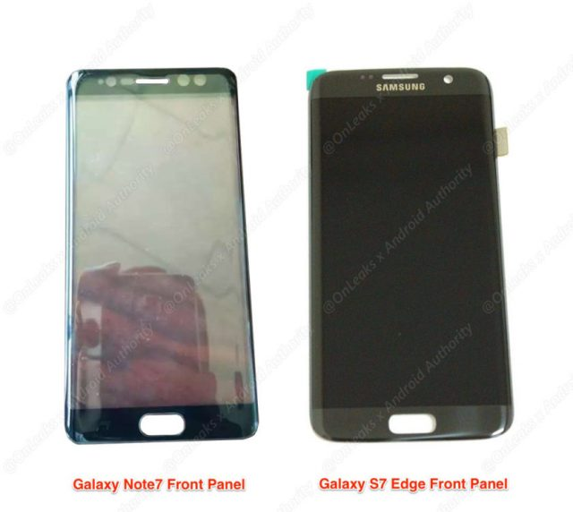 Leaked Samsung Galaxy Note 7 front panel hints at the existence of an iris scanner