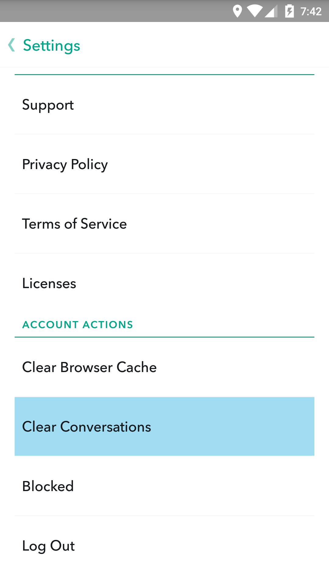 How to use snapchat memories download delete backup your conversations you have clear out whenever you leave the chat but the main conversation list including all the people youve recently been chatting with ccuart Images