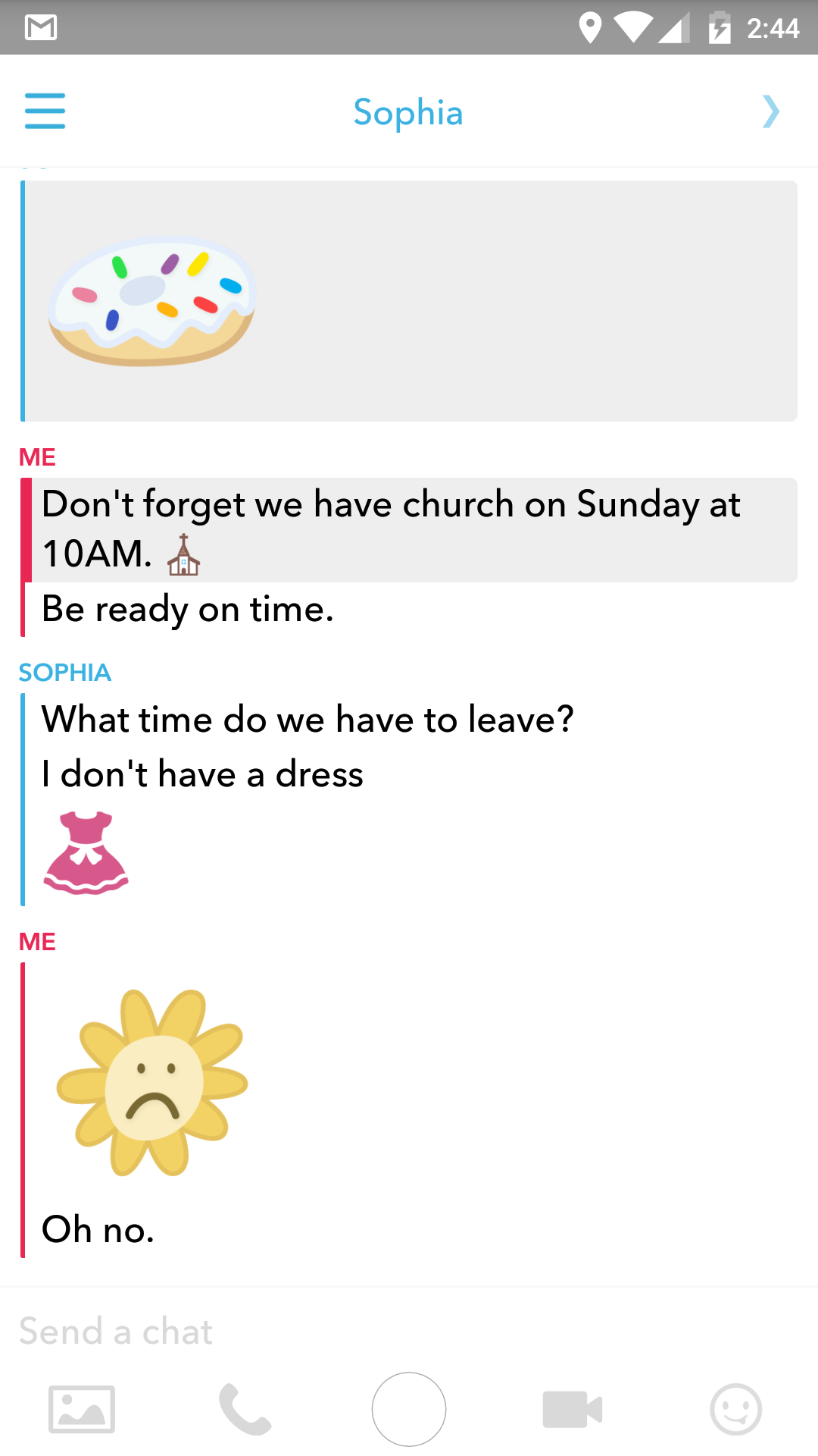 Snapchat Chat Room Blue