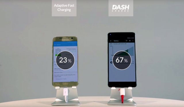 OnePlus 3 beats Galaxy S7 in fast charging test