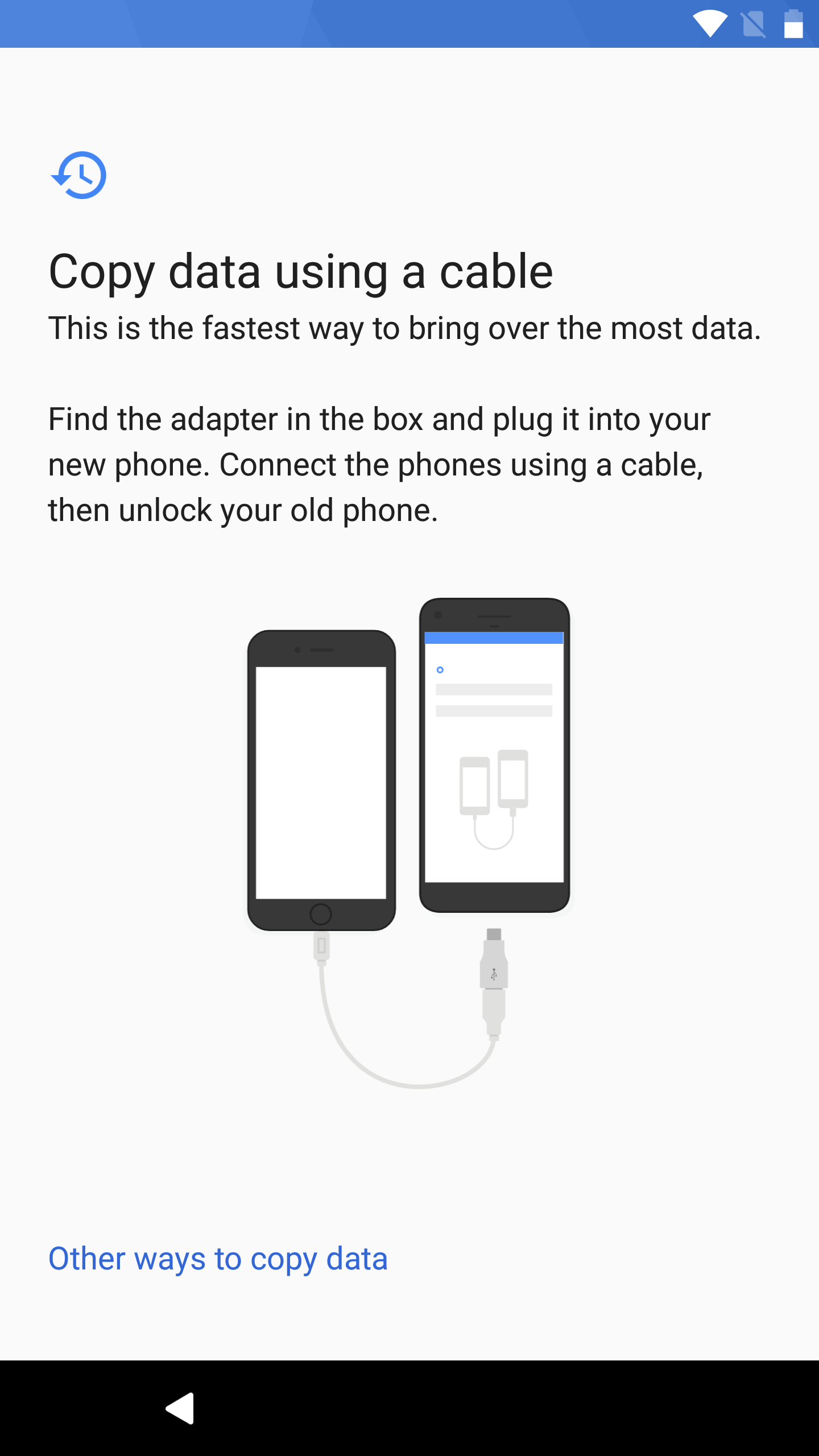 Pixel How To Copy Data From Old Android Or Iphone Device Using A Usb Cable Wiring Diagram Plug Just Use The Your And It Into Adapter Then After Connecting