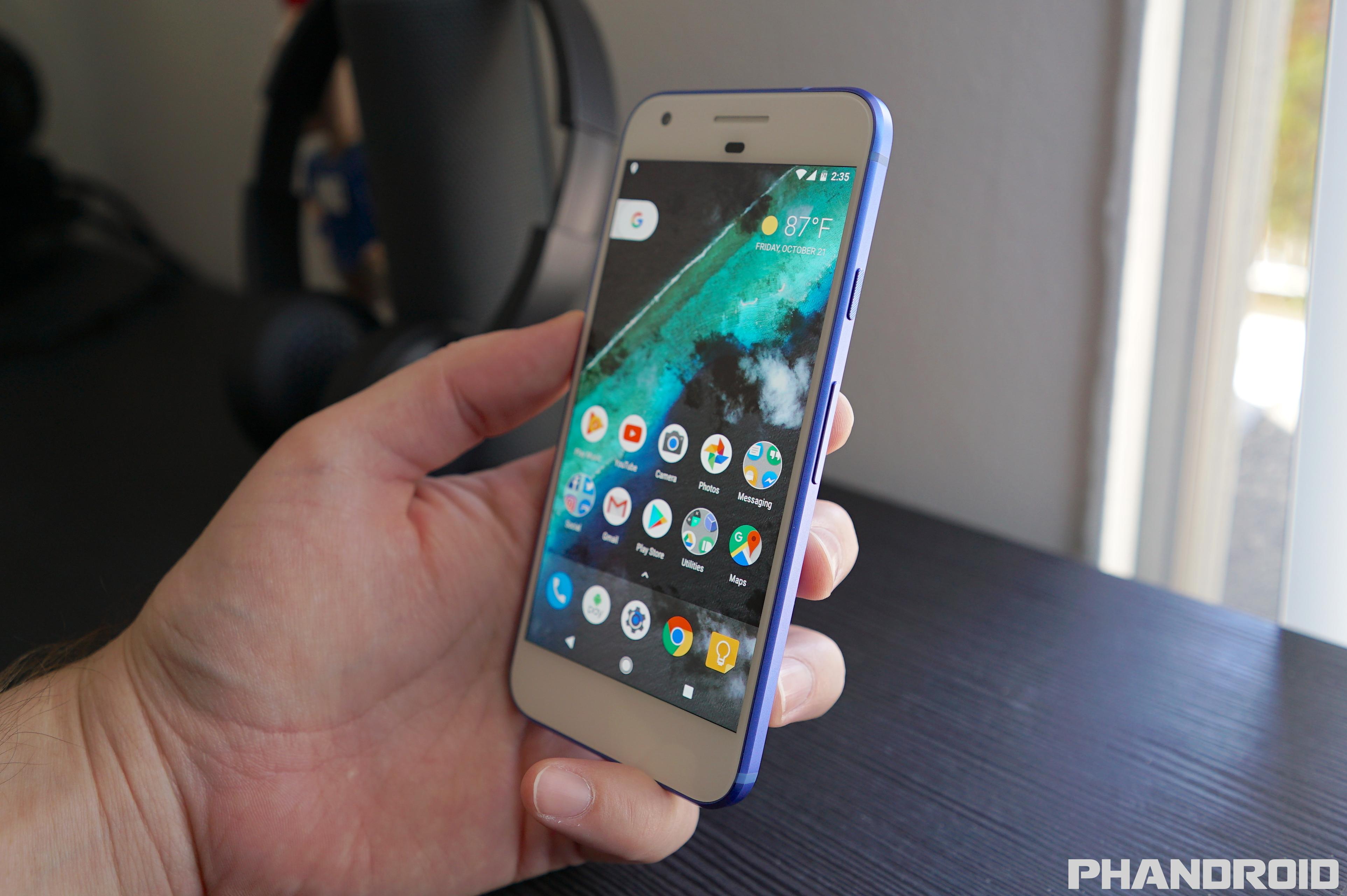 custom blue google pixel with black front looks amazing