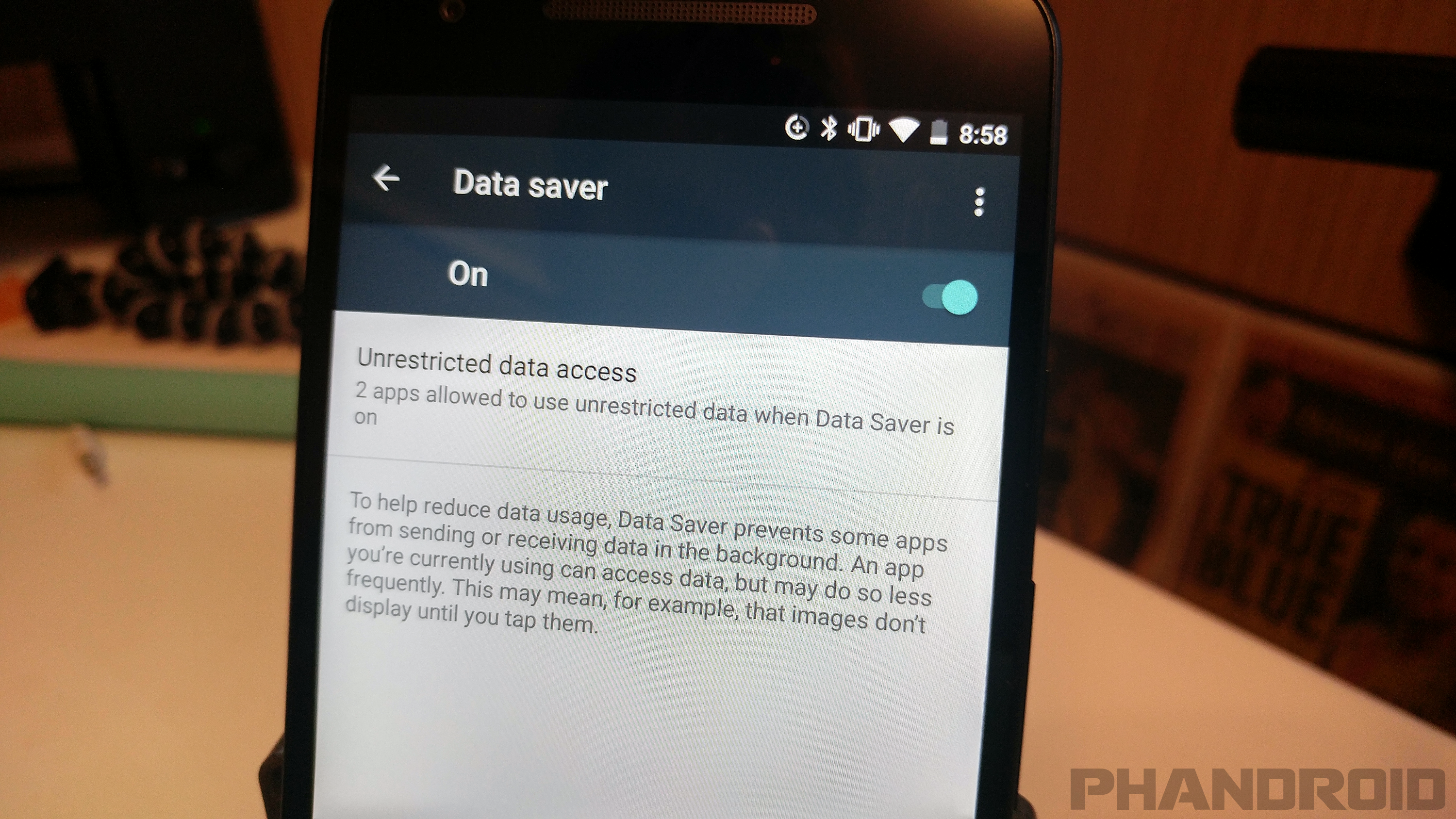 5. Restrict apps from using data in the background
