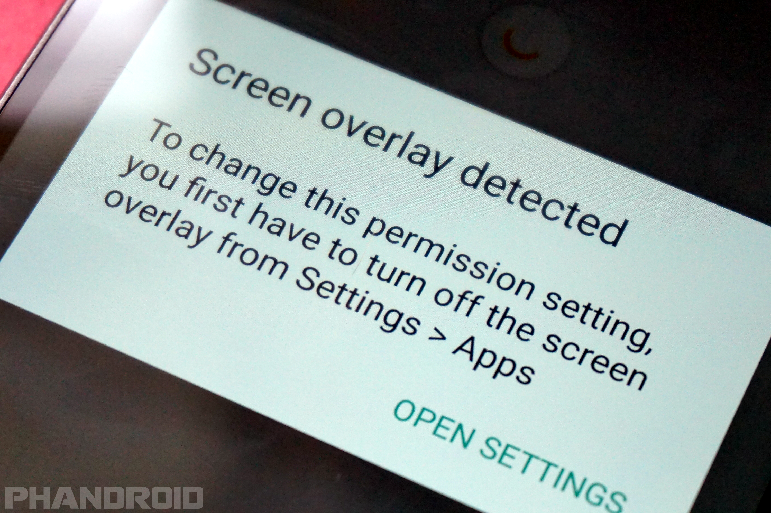 How to turn off screen overlay on android what does it mean reheart Gallery