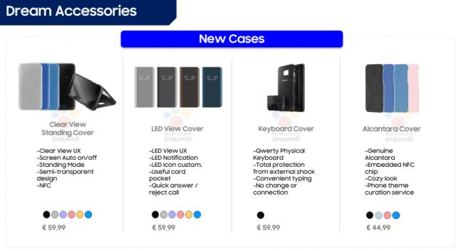Accessori Samsung Galaxy S8 disponibili in vari colori