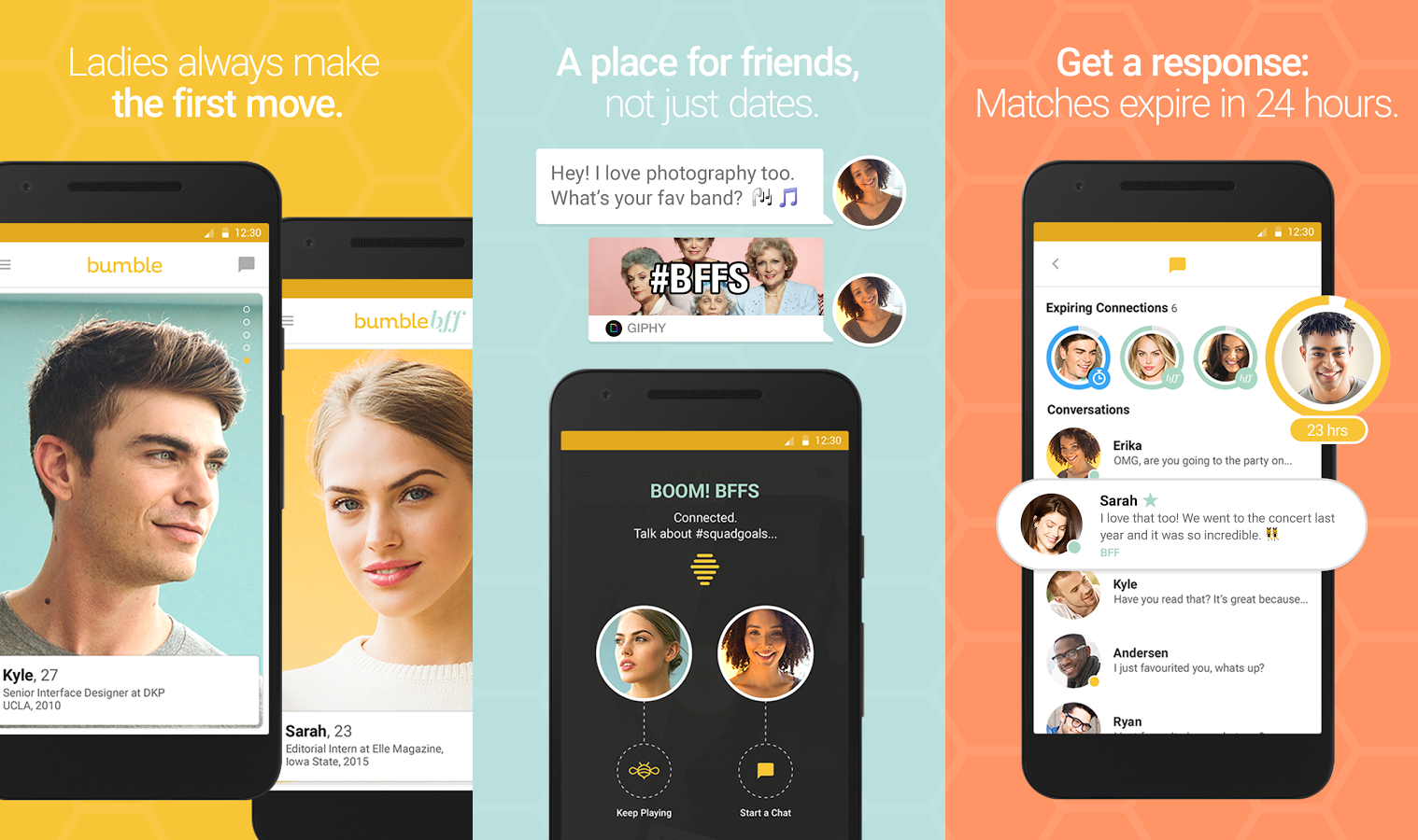 Bumble is a unique dating app that gives a lot of control to women. Instead  of being bombarded by messages from creepy men, it's up to the woman to  initiate ...