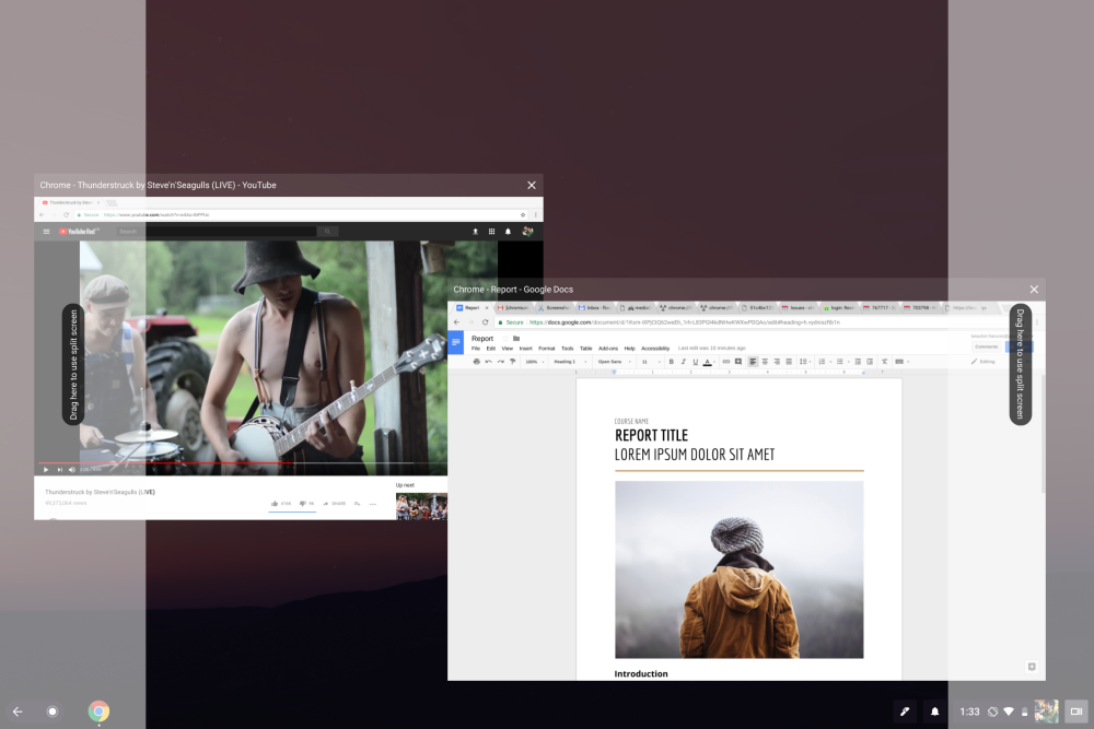 Chromebook split-screen now working with Android apps in