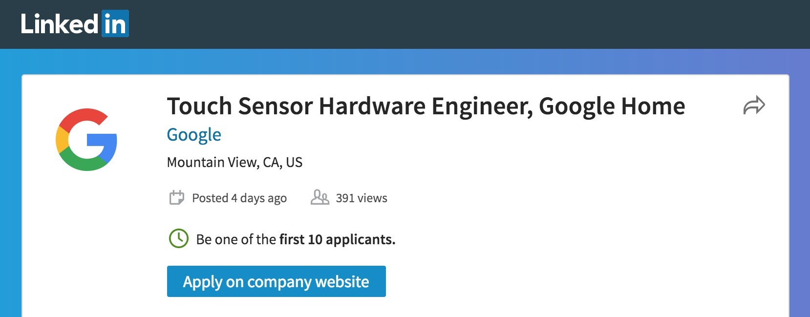 Google Home With Touch Screen Tipped By Linkedin Job Listing