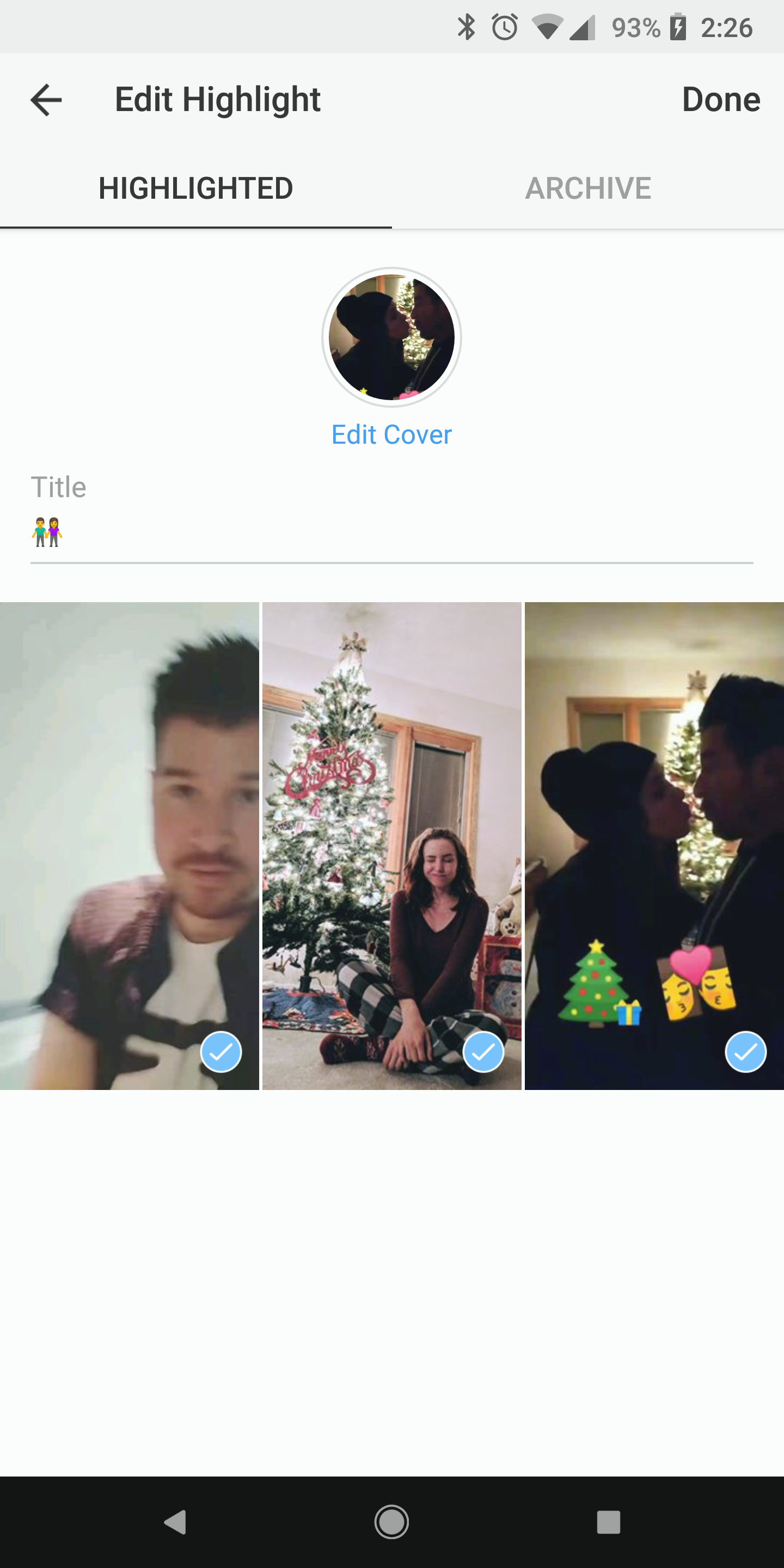 How to use instagrams highlight feature to pin stories to your choose title edit cover photo and select stories ccuart Choice Image
