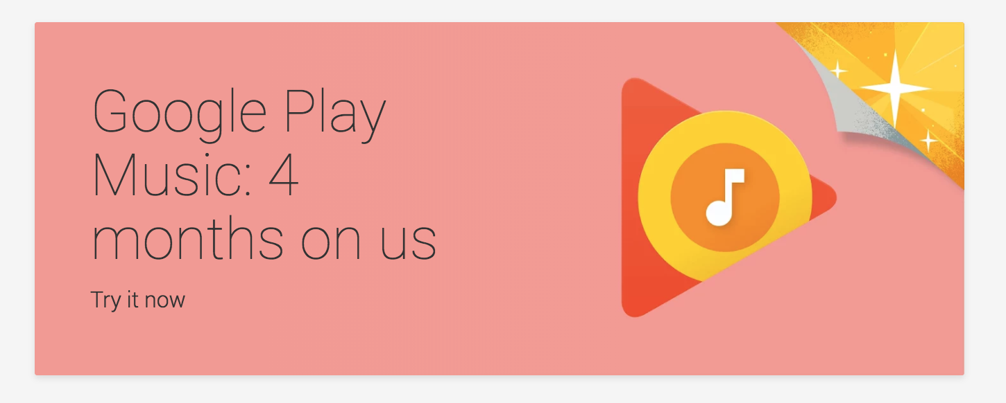 Marvelous One Of These Deals Is For Google Play Music, Giving You 4 Months Of The  Music Streaming Service For Free, Before Youu0027ll Need To Decide Whether You  Want To ...