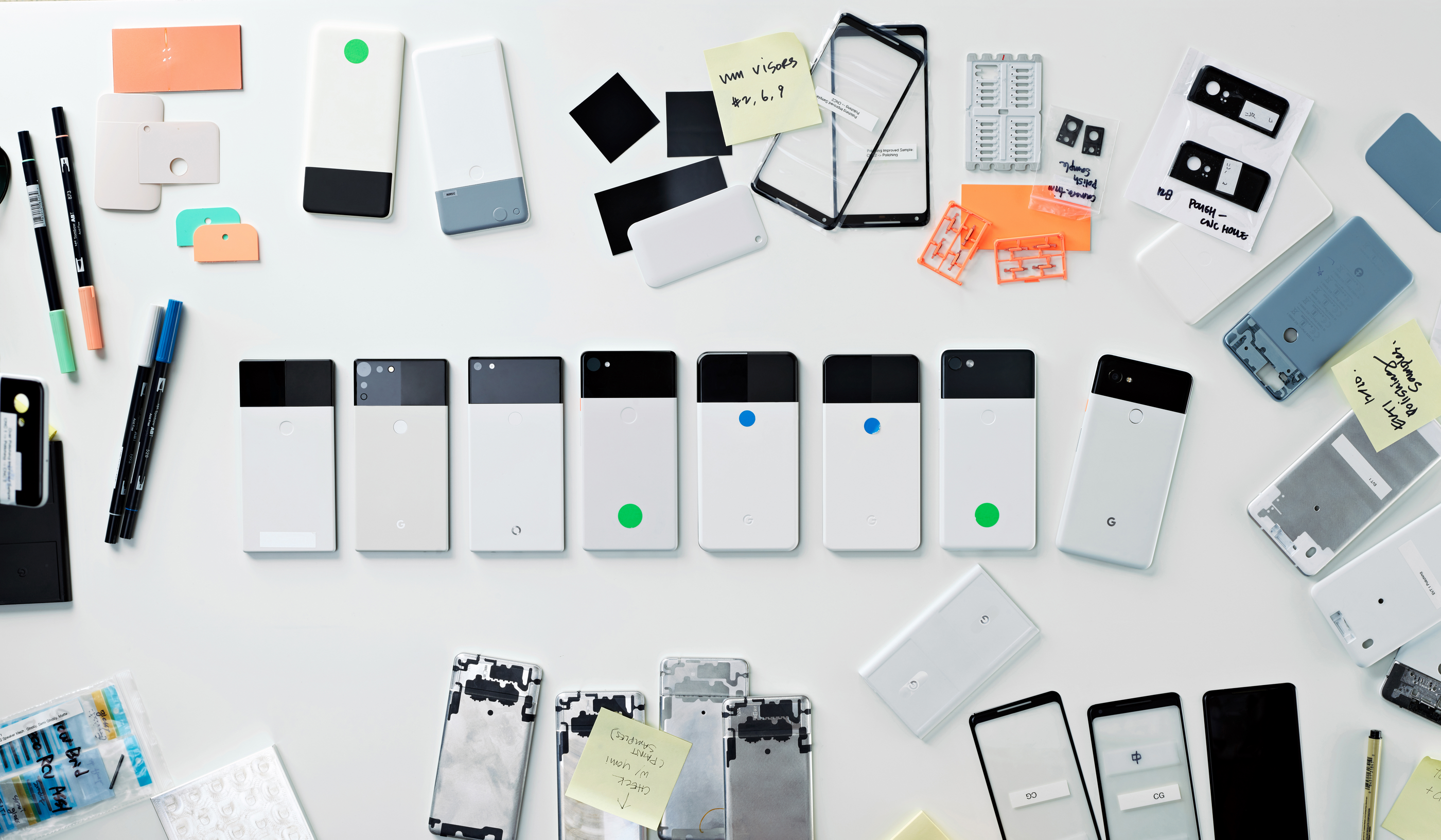 Google shares photos from the design process of the Pixel 2 ...