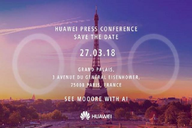 Huawei P20 event invite hints at 3 camera setup