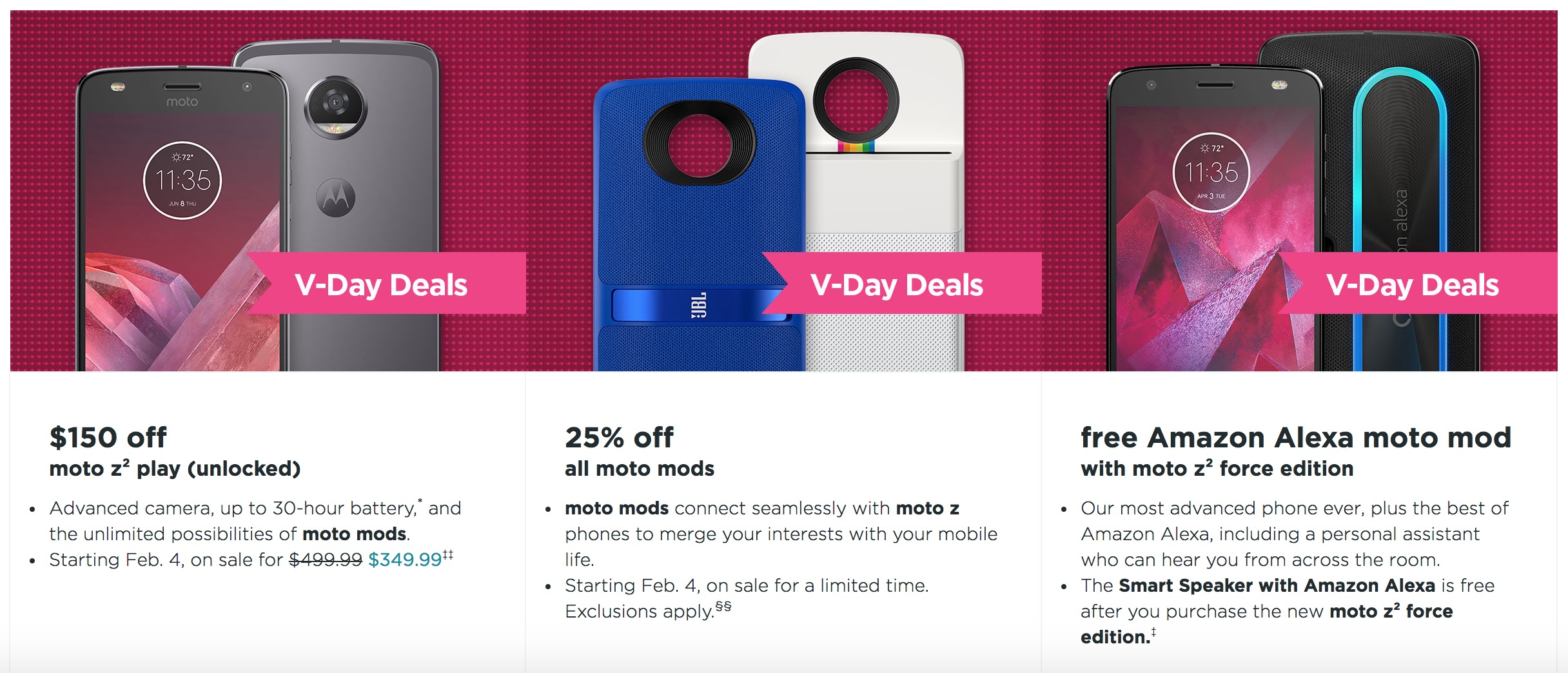 DEAL: Moto Z2 Play gets $150 discount in time for Valentine's Day