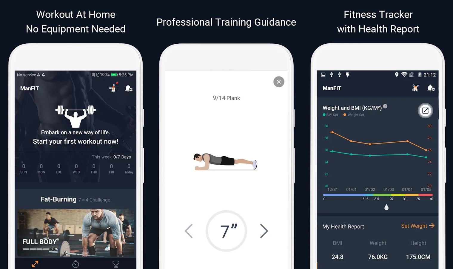 12b8b0433a8 ManFIT is a freeFREE fitness app for men (or women) who want to workout at  home. It requires no fitness equipment